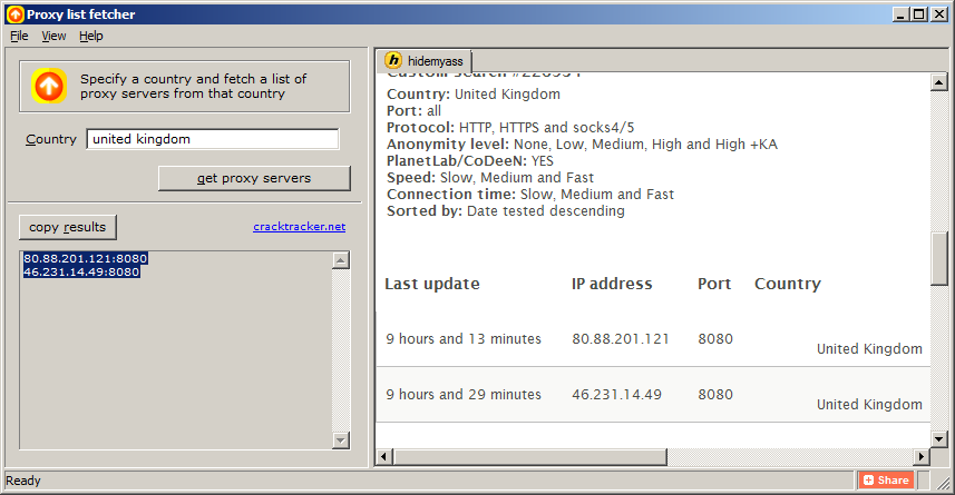 Crack Tracker blog: Extract proxy IP addresses from
